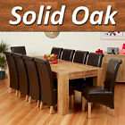 Stunning 100% Solid Oak Dining Table Set with Chunky Legs & 8/10 Chairs 240cm