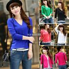 New Ladies Womens Crochet Knit Knitted Buttoned V Neck Top Cardigan Sweater