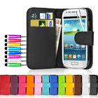 Flip Wallet Leather Case Cover For Samsung Galaxy S3 MINI I8190  + Screen Guard