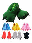Unisex Soft Plush Indoor Home Slippers Cartoon Cosplay Paw Claw Shoes Footwear
