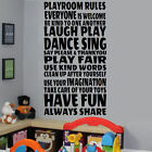 EXTRA LARGE CHILDREN TOYS QUOTE IN THIS PLAYROOM RULES WALL STICKER TRANSFER