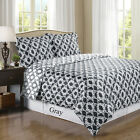 Sierra Gray/White Silky Soft 100% Egyptian Cotton Reversible Duvet Cover