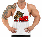 TRAIN NASTY  GET  FREAKY  T-BACK  BODYBUILDING VEST WORKOUT GYM CLOTHING