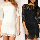 New Women Sexy Lace Bodycon Slim Formal Cocktail Club Party Evening Mini Dress