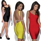 Women Sexy V-Neck Backless Bandage Cocktail Party Bodycon Pencil Mini Dress K0E1