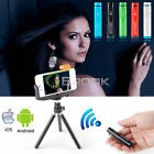 Selfie Bluetooth Remote Control Shutter + Tripod Mount Holder for Samsung iPhone