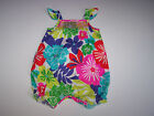 NWT CARTER'S ONE PIECE ROMPER OUTFIT FLORAL MULTI COLOR HANDSMOCKED
