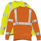 Mens T shirts Hi-Vis Wolverine Caution Tee Long Sleeve Safety Class 3 Reflective