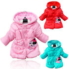 2-5T Minnie Mickey Mouse Baby Girls Kids Long Sleeve Winter Jacket Hoodie Coat