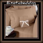 Taupe Solid 4-Piece Bed Sheet Set 1500 Thread Count Egyptian Cotton