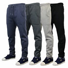 Mens Jogging Slim Fit Pants Bottoms Threadbare Sweat Trouser Fleece Lined Cuffed