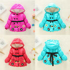 KIDS Baby Girls Princess Children's Flower Hooddie Coat Jacket Outwear Snowsuit