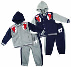 Boy's NEW YORK Boxing 3 Piece Winter Hoody Tracksuit Grey Navy 2-13yrs NEW