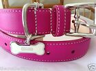 NEW COACH SMOOTHE PINK PURPLE 61353 SMALL LARGE  LEATHER DOG COLLAR S L SOLD OUT