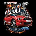Ford Shelby Mustang Cobra GT500 Snake Grill Hooded Sweatshirt Sizes SM To 2XL