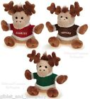 MERRY MOOSE DOG TOY - Soft Plush Squeaker Small Toy Snacks Cookies Treats