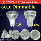4W 6W LED Bulbs 4 6 10 12 20X Dimmable GU10 MR16 Day Warm White Spotlight Bright