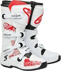 Alpinestars Tech 3 Adult Offroad Boots White/Red Swirls Size 5-16