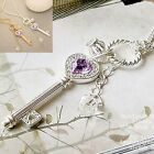 Fashion Hot Silver/Gold Color Heart Key Pendant Long Sweater Chain Necklace New