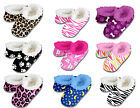 New Snoozies Slippers Women Fuzzy House Shoes No Skid