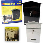 Heavy Duty Waterproof Metal Letterbox Postbox Secure MailBox with Set of Keys