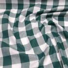 """BOTTLE GREEN 1"""" Gingham Check poly cotton material sold by the metre 112cm wide"""