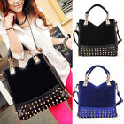 Korean Women lady Rivet Tote Shoulder Messenger Handbag Hobo Bag Black Blue