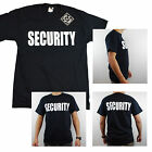 New Security Black 100% Cotton T Shirt Front & Black Event Bouncer Staff Uniform
