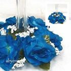 3 inch Rose Candle Ring 9 in Wreath Silk Flowers Artificial Wedding Arrangements