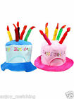 Unisex Adult Novelty Plush Cotton Happy Birthday Cake Hat New Favors Supplies