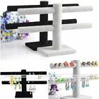 1x 2 Tier Hanging Jewellery Watch Bracelet Earring Suede Stand Display Organizer