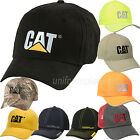 Caterpillar Hats Men CAT Logo Adjustable Baseball Cap Cotton Curved Visor OSFM