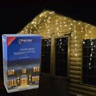 Premier Outdoor LED Icicle Christmas Lights Blue, White or Multi Coloured