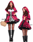 Sexy LITTLE RED RIDING HOOD Costume MINI DRESS CAPE GOTHIC EMO Once Upon a TIME