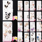 Shine Diamond Flower Wallet Leather Flip Case Cover for LG cell phone