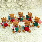 Cute Bear Green Red Christmas Tree Pendant Hanging Drop Decoration Ornaments