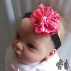 BABY STRETCH HEADBAND, LACE FLOWER, Maggie 7 Design