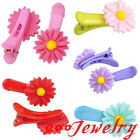 2pc Daisy Resin Hair Allgator Clip Hairpin Child Student Hair Accessories