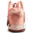 Women Bow Lace Casual Travel Backpack Bag Campus Bookbag Handbag Satchel Bag