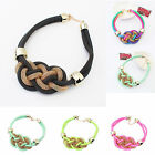 CHIC fashion handmade woven Chinese knot cotton rope Fluorescent color necklace