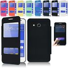 Window View Leather Flip Battery Cover Case for Samsung Galaxy Core 2 G355H NEW