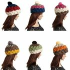 Fashion Women Lady Girls Winter Warm Beanie Chunky Knitted Thick Cap Bobble Hat