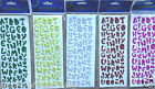 ALPHABET CAPITAL LETTERS STICKERS SELF ADHESIVE Pink Silver Red Green 1.5cm