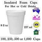 Dart Insulated Foam Cup 80 fl oz 237 ml White Cups Hot & Cold Drinks Various Qty