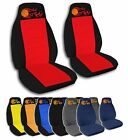 2 Front Basketball with Flames Velvet Seat Covers with 12 Color Options