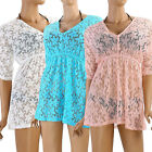 Sexy Womens Hollow Out Batwing Sleeve Cover Up Tunic Top Summer Beach Dress Gift