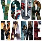 MARVEL AVENGERS LETTER NAME STICKERS WALL DECO DECAL 3 SIZES PERSONALISED lot FA