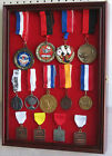 Wall Shadow Box For Lapel Pin patches Medal Display, glass door, MPC01(RD)