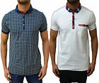 Mens Designer Bewley & Ritch Casual Polo T Shirt Smart Collared Jersey Pique Top