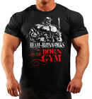 BORN IN THE GYM BLACK BODYBUILDING T-SHIRT WORKOUT GYM CLOTHING